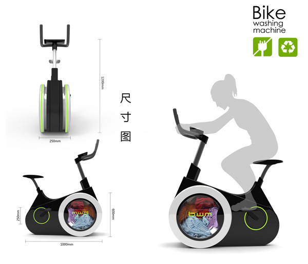 le concept de v lo d 39 appartement machine laver bike washing machine. Black Bedroom Furniture Sets. Home Design Ideas